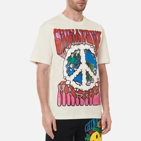 Мужская футболка Chinatown Market Peace On Earth Clouds Cream