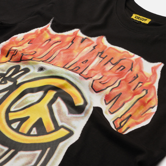 Мужская футболка Chinatown Market Peace Guy Flame Arc Black