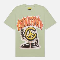 Мужская футболка Chinatown Market Peace Guy Flame Arc Tea Green