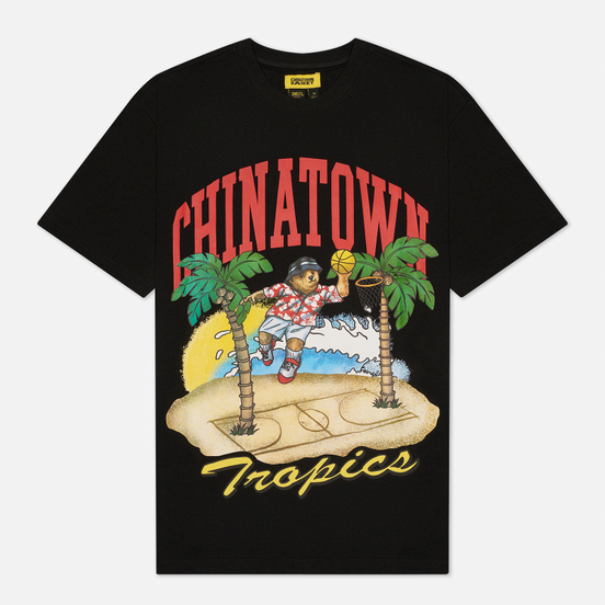 Мужская футболка Chinatown Market Dunking Bear By The Water Black
