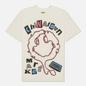 Мужская футболка Chinatown Market Smiley Tape Player Cream фото - 0