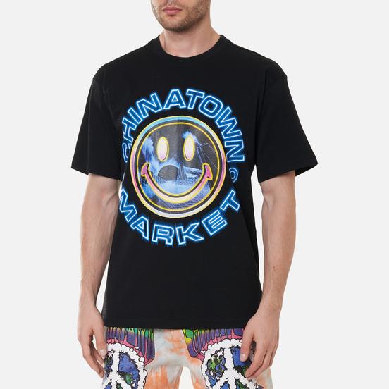 Мужская футболка Chinatown Market Smiley Vapor Wave Black