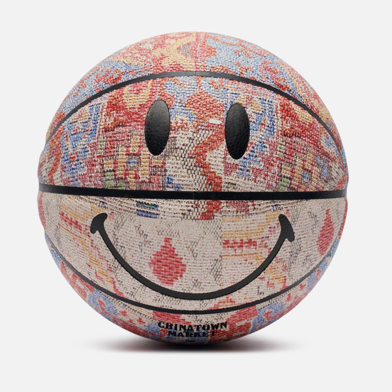 Баскетбольный мяч Chinatown Market Smiley Patchwork Rug Multicolor
