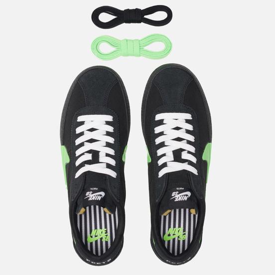 Мужские кроссовки Nike SB x The Poets Bruin QS Black/Voltage Green/White
