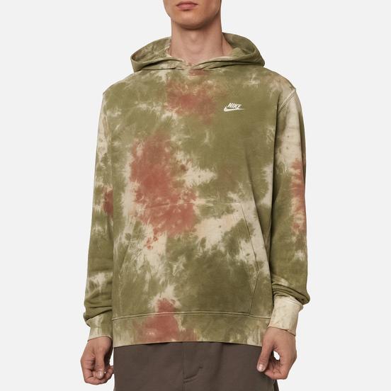 Мужская толстовка Nike Tie-Dye Hoodie Medium Olive/White