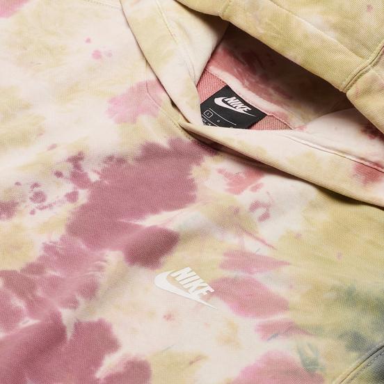 Мужская толстовка Nike Tie-Dye Hoodie Dark Beetroot/White