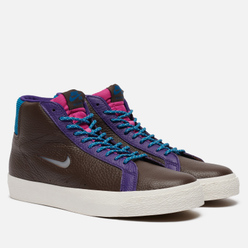 Кроссовки Nike SB Zoom Blazer Mid Premium Baroque Brown/White/Green Abyss