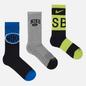 Комплект носков Nike SB 3-Pack Everyday Lightweight Max Crew Multi-Color/Blue/Yellow/Grey фото - 0
