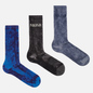 Комплект носков Nike SB 3-Pack Everyday Plus Lightweight Crew Multi-Color/Navy/Black/Grey фото - 0