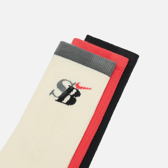 Комплект носков Nike SB 3-Pack Everyday Max Lightweight Crew Multi-Color/White/Black/Pink