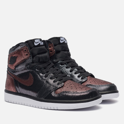 Женские кроссовки Jordan Wmns Air Jordan 1 High OG Fearless Black/Black/Metallic Rose Gold/White