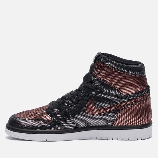 Женские кроссовки Jordan Wmns Air Jordan 1 High OG Fearless Black/Black/Metallic Rose Gold/White