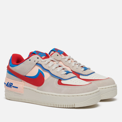 Женские кроссовки Nike Air Force 1 Shadow Sail/University Red/Photo Blue