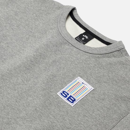 Мужская толстовка Nike SB Stripes Crew Neck Dark Grey Heather/White