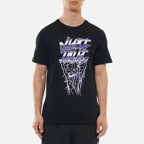 Мужская футболка Nike Dri-Fit Metallic Just Do It Black