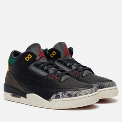 Мужские кроссовки Jordan Air Jordan 3 Retro SE Animal Instinct 2.0 Black/Black/White/Gorge Green