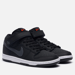 Мужские кроссовки Nike SB Dunk Mid Pro ISO Black/Dark Grey/Black/White