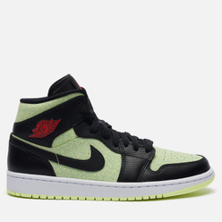 Кроссовки Jordan Wmns Air Jordan 1 Mid SE Black/Chile Red/Barely Volt/White