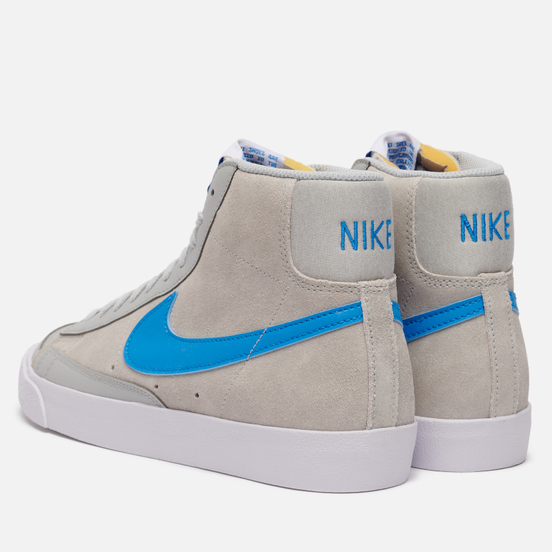 Мужские кроссовки Nike Blazer Mid 77 NRG EMB Coney Island Grey Fog/Light Photo Blue/White