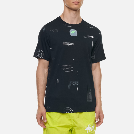 Мужская футболка Nike Music All Over Print Black