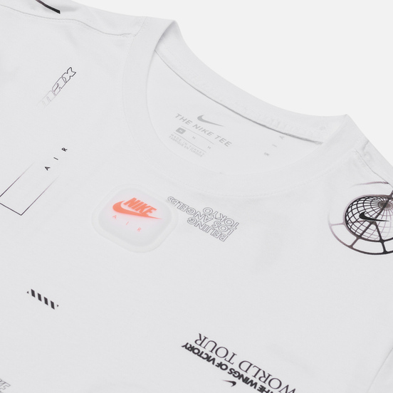 Мужская футболка Nike Music All Over Print White