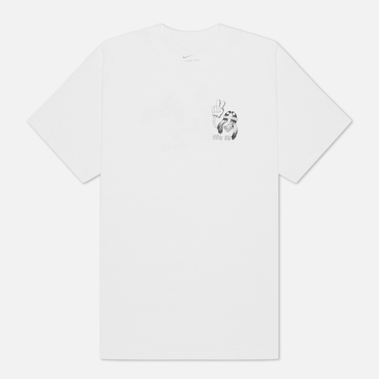 Мужская футболка Nike SB Duder White/Black