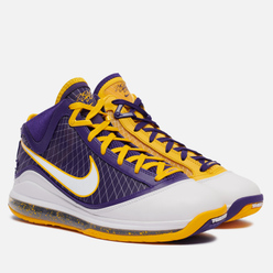 Мужские кроссовки Nike LeBron VII QS Media Day Court Purple/White/Amarillo