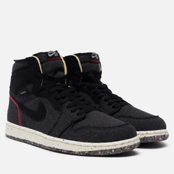 Кроссовки Jordan Air Jordan 1 High Zoom Air Crater Collection Black/Flash Crimson/Wolf Grey