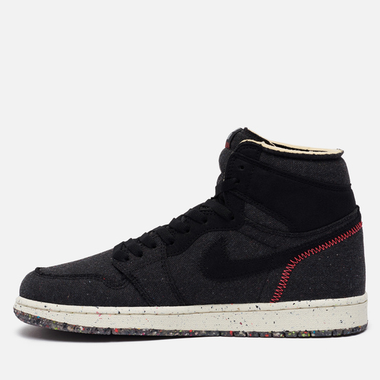 Кроссовки Jordan Air Jordan 1 High Zoom Air Crater Collection Black/Flash Crimson/Wolf Grey