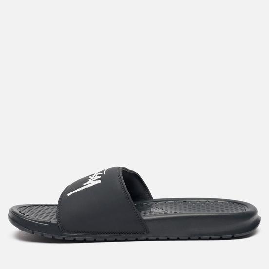 Мужские сланцы Nike x Stussy Benassi Off Noir/White