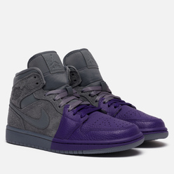 Женские кроссовки Jordan x Sheila Rashid Air Jordan 1 Mid SE Unite Cool Grey/Cool Grey/Field Purple