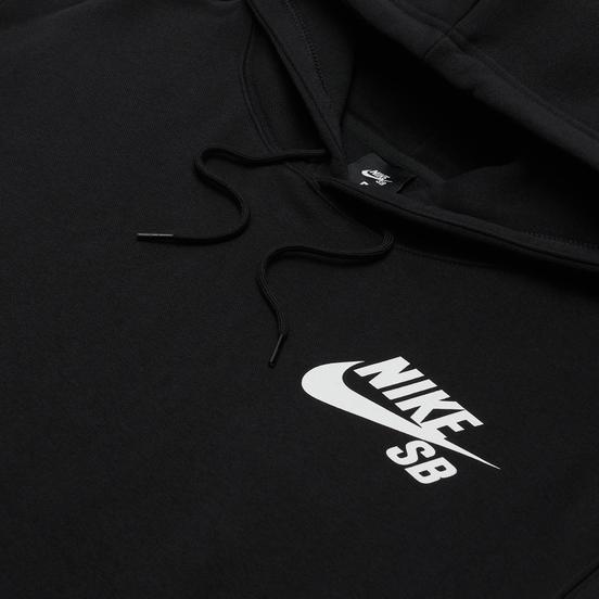 Мужская толстовка Nike SB Icon Essential Logo Hoodie Black/White