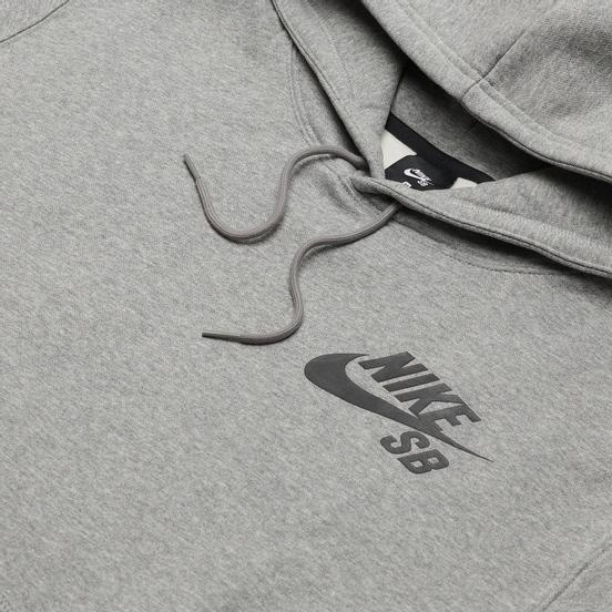 Мужская толстовка Nike SB Icon Essential Logo Hoodie Dark Grey Heather/Black