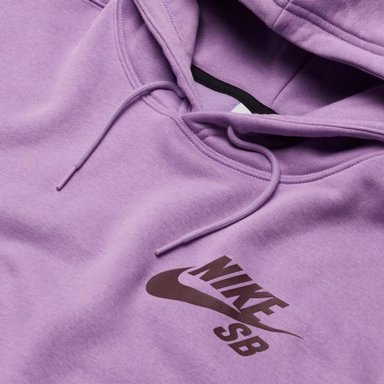 Мужская толстовка Nike SB Icon Essential Logo Hoodie Violet Star/Dark Wine