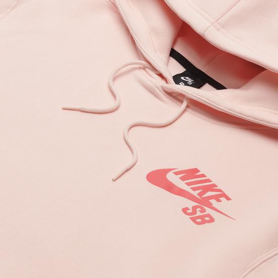 Мужская толстовка Nike SB Icon Essential Logo Hoodie Orange Pearl/Light Fusion Red