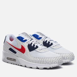 Мужские кроссовки Nike Air Max 90 Euro Tour White/University Red/Midnight Navy