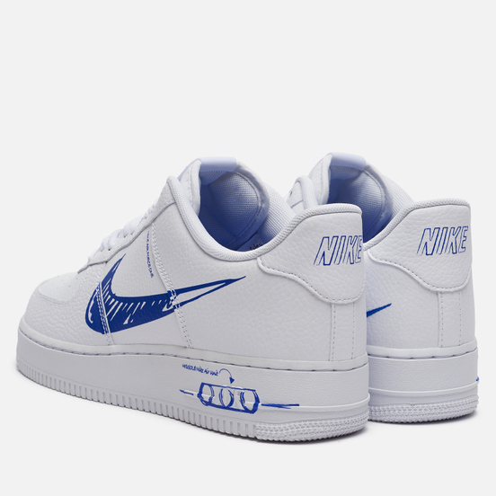 Мужские кроссовки Nike Air Force 1 Low Utility Sketch Pack White/Racer Blue/White
