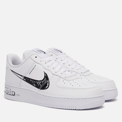 Мужские кроссовки Nike Air Force 1 Low Utility Sketch Pack White/Black/White