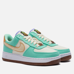 Женские кроссовки Nike Air Force 1 07 LX Pinapple Green Glow/Coconut Milk/Metallic Gold