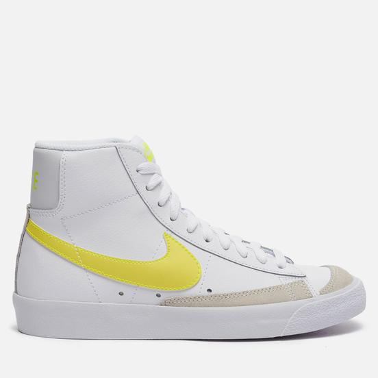 Женские кроссовки Nike Blazer Mid 77 White/Lemon Venom/Pure Platinum/Fossil
