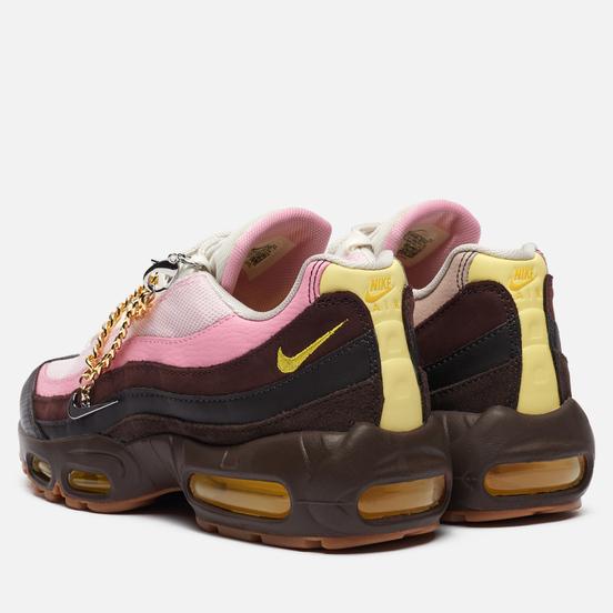 Женские кроссовки Nike Air Max 95 Velvet Brown/Opti Yellow/Light British Tan