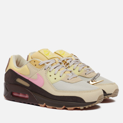 Женские кроссовки Nike Wmns Air Max 90 Cuban Link Velvet Brown/Pink/Light British Tan