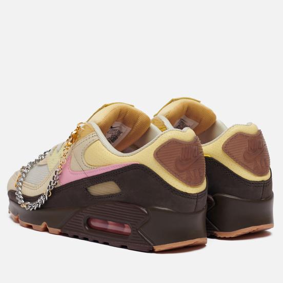 Кроссовки Nike Wmns Air Max 90 Cuban Link Velvet Brown/Pink/Light British Tan