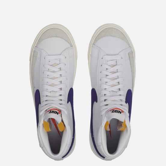 Женские кроссовки Nike Blazer Mid 77 White/Voltage Purple/Sail