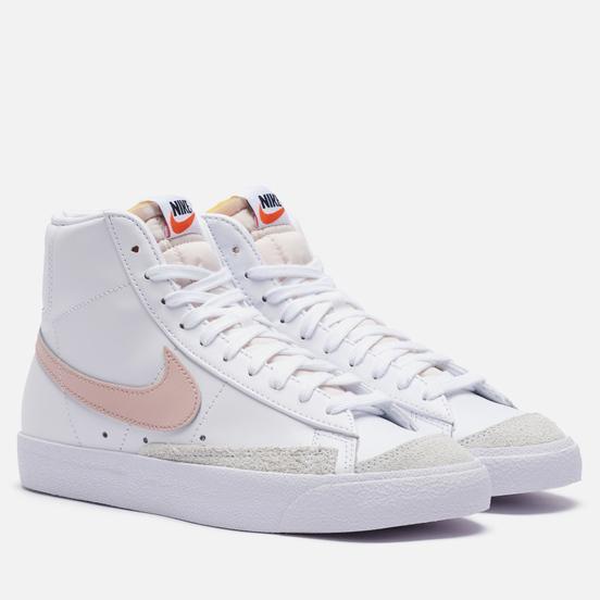 Женские кроссовки Nike Blazer Mid 77 White/Pink Oxford/Black/Summit White