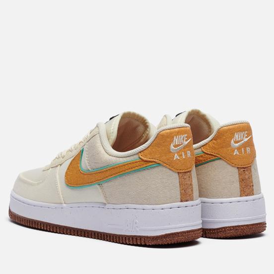 Кроссовки Nike Air Force 1 07 Premium Pineapple Coconut Milk/Metallic Gold/Green Glow