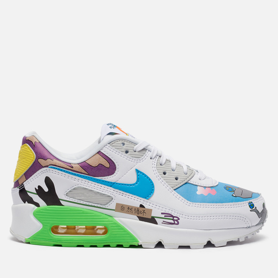 Кроссовки Nike x Ruohan Wang Air Max 90 QS Flyleather Multi-Color/Multi-Color