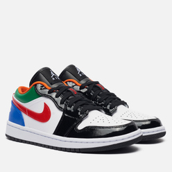Женские кроссовки Jordan Wmns Air Jordan 1 Low SE Multi-Color Black Toe White/White/Hyper Royal/University Red