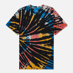 Мужская футболка Nike Tie Dye Black/Bright Crimson/White