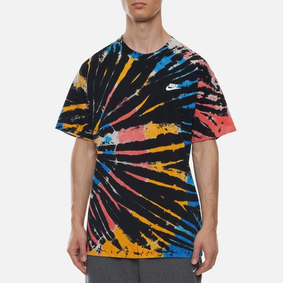 Мужская футболка Nike Tie Dye Black/Bright Crimson/White